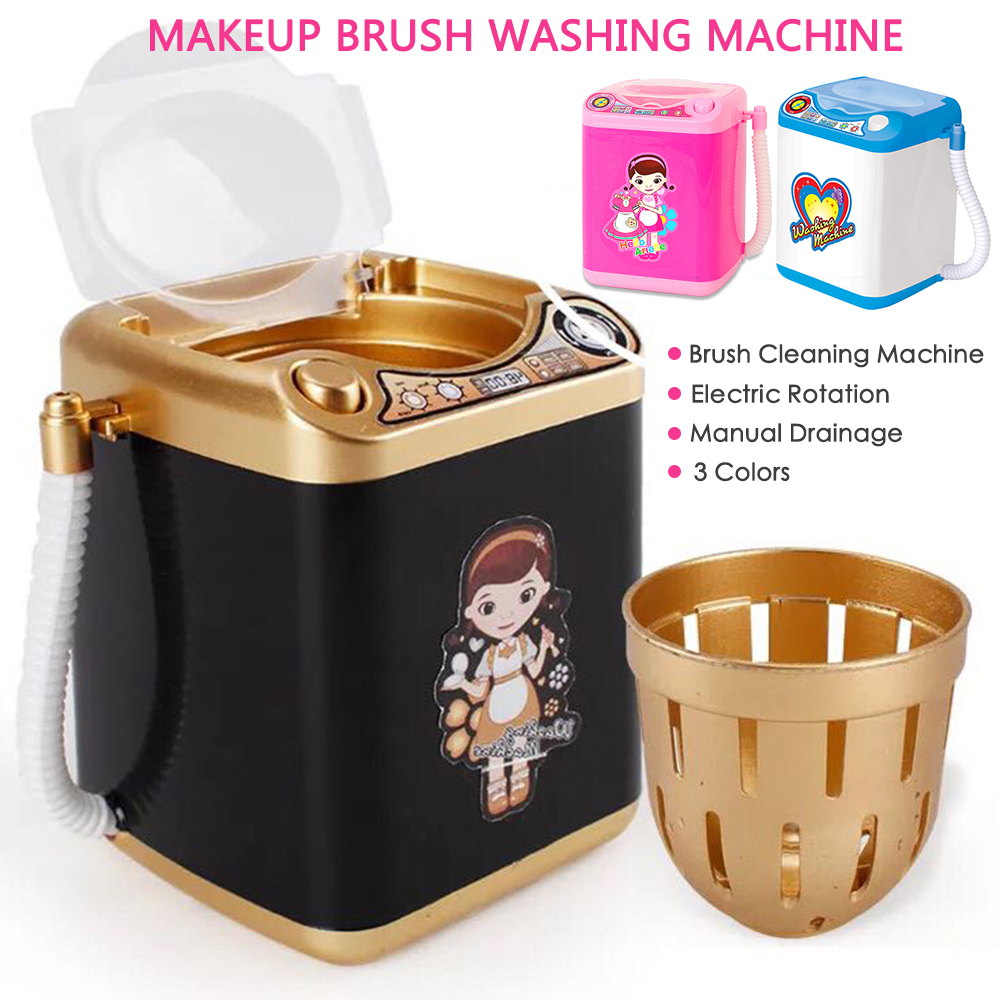 Mini Washing Machine Dollhouse Toy for Wash Makeup Brushes Decoration