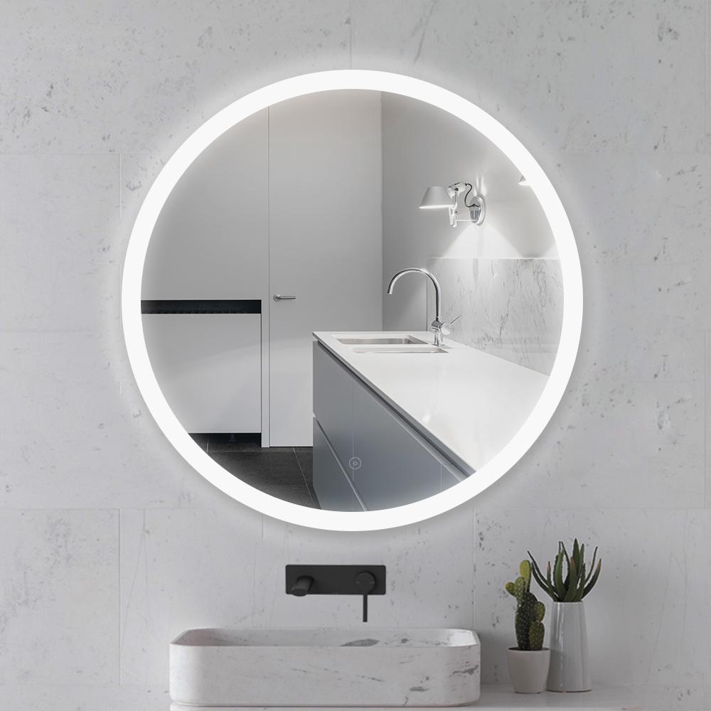 17cm ∅ Miroir Mural Rond Lumineux Salle De Bain LED Éclairage